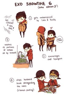 Exo showtime ep 6 (1/2) suho edition