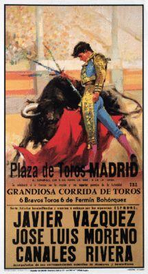 Madrid Bull Fight Poster