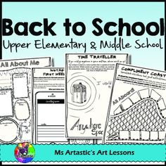 30 Back to School Activities for Middle School and Upper Elementary Students! This is a great product to get students introduced to the new year, to set goals, to write journal entries about their summer and plans for the future, to get to know their peers better, to create community, to allow you insight into your new students, and to allow students to draw and be creative (selfies!