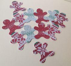 Gingerbread Figures,'Wooly Jumper 'Printed Card,50 pk £2.00