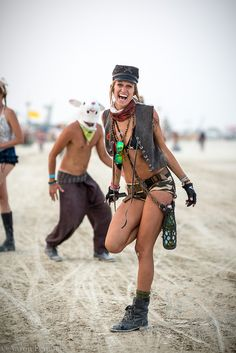 burning man - love the outfit!