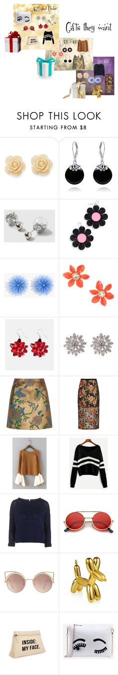 """""""Gifts they want!"""" by sandjpopescu ❤ liked on Polyvore featuring Draper James, Bling Jewelry, Dorothy Perkins, Marina Fini, J.Crew, Kate Spade, Avenue, Nordstrom Rack, River Island and Topshop"""