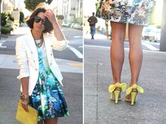 cool outfit.  fun shoes.