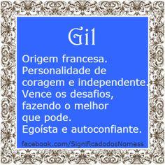 Significado do nome Gil | Significado dos Nomes