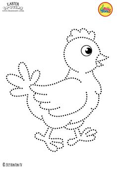 Easter Tracing and Coloring Pages for Kids - Free Preschool Printables and Worksheets, Fine Motor Skills Practice - Easter bunny, eggs, chicks and more on BonTon TV - Coloring books uskrs easter preschool tracing coloringpages coloringbooks printabl Preschool Writing, Free Preschool, Printable Preschool Worksheets, Worksheets For Kids, Coloring Pages For Kids, Coloring Books, String Art Patterns, Alphabet For Kids, Easter Activities