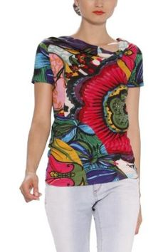 Desigual TS AnneFlore Graphic Tee,$84.00