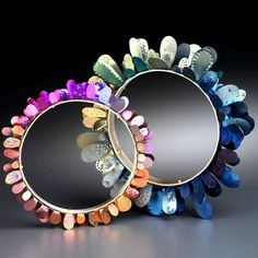 Meghan O'Rourke contemporary jewellery designer working in anodised titanium and aluminium. Bangle Bracelets, Bangles, Metal Bracelets, Jewelry Art, Jewelry Design, Contemporary Jewellery Designers, Titanium Jewelry, Unusual Jewelry, Luxury Jewelry