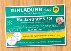 Geburtstag Einladung MUSTER 104   Bild Vergrößern | Originelle Einladungskarten  Geburtstag | Pinterest
