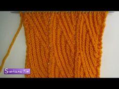 Мастер Класс по вязанию спицами. Узор ВЕРТИКАЛЬНЫЕ ВОЛНЫ # 206 - YouTube