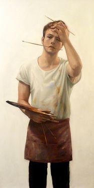"Saatchi Online Artist brook tate; Painting, ""Self Portrait"" #art"