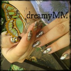 #vintage #butterfly #nailart