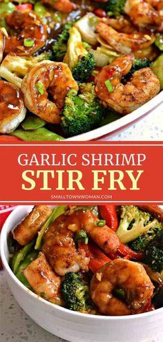 Shrimp Recipes For Dinner, Shrimp Recipes Easy, Seafood Dinner, Seafood Recipes, Garlic Shrimp Recipes, Shrimp With Garlic Sauce Recipe, Shrimp And Snow Peas Recipe, Meals With Shrimp, Shrimp In Garlic Sauce