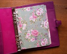 Cottage Chic Laminated A5 planner dividers. Fits #filofax #kikkik includes page marker #vintageflowers