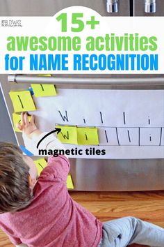 Name activities are our jam, and we've put together the best list of ideas to help your toddler and preschooler practice! Preschool Activities At Home, Preschool Names, Indoor Activities For Toddlers, Preschool Learning Activities, Letter Activities, Letter Games, Fall Preschool, Kindergarten Math, Teaching Resources