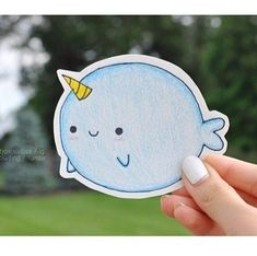 Cute narwhale tumblr drawing!