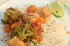 Chicken Curry with Vegetables and Scented Rice
