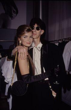"Paulina Porizkova - 1980/1990s supermodel and husband Ric Ocasek from the rock group ""The Cars"""