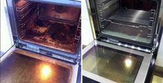 een vieze oven schoonmaken doe je zo..