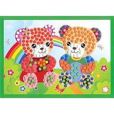 EVA Dot Mosaic 3D Stickers Children Hand DIY Bear Two Toy - EUR € 3.99
