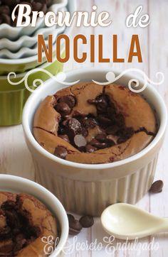 Brownie de Nocilla Rápido - elsecretoendulzado.blogspot.com.es