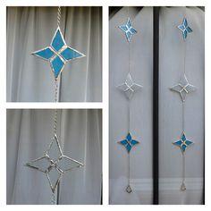 Colgantes De Corazones/estrellas Hechos En Vitraux Tiffany - $ 150,00 en MercadoLibre