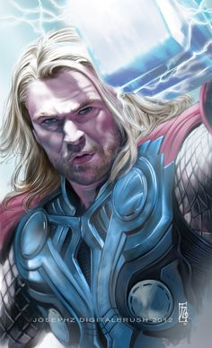 Chris Hemswoth as Thor by *earache-J
