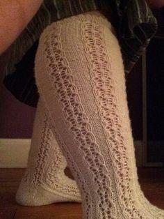 Bintje socks knit in ONline Linie 2 Supersocke Silk. Finished 7/25/14