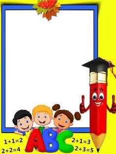 Coloring Pages, Education, Learning: Kids Background Design Printable Kindergarten Workbooks, Kindergarten Portfolio, Kids Background, Creative Background, Classroom Background, Garden Theme Classroom, Preschool Certificates, School Board Decoration, School Binder Covers