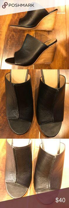 14th & Union black leather mules 14th & Union black mule heels 14th & Union Shoes Mules & Clogs