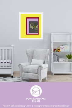 Bring joy and color into your baby's nursery with this colorful Christian art.   I have come as light into the world. –Jesus [John 12:46]  This modern Bible verse wall art is available in 6 bright color combinations so you can choose the one most suited for your colorful style.   Our high-resolution digital files are provided in 2 file formats and 8 sizes to allow you the most flexibility in printing.  #lavender #colorful #John12:46 #Jesus #Bible #Christian Yellow Kids Rooms, Yellow Nursery, Lavender Decor, Lavender Walls, Christian Wall Art, Christian Gifts, Geometric Box, Bible Verse Wall Art, Kid Rooms