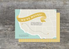 On the Map Moving Announcement 25 by brightsideprints on Etsy, $42.25