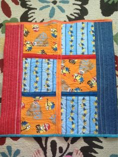 Minions quilt for small child by Milly