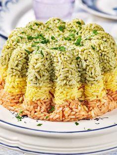 RYZI-FORMAS-TRICOLORE Greek Recipes, Rice Recipes, Snack Recipes, Cooking Recipes, Healthy Recipes, Greek Cooking, Rice Dishes, Breakfast Recipes, Yummy Food