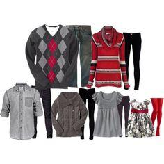 Family Pictures - coordinate clothes w/basic color scheme