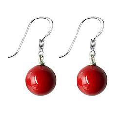 10mm de color rojo pendiente de piedra preciosa – EUR € 1.02