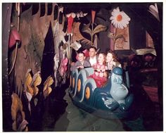 Vintage Disney Alice in Wonderland: Original Alice in Wonderland Attraction Color Photographs