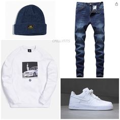 Dope Outfits For Guys, Swag Outfits Men, Casual School Outfits, Stylish Mens Outfits, Nike Outfits, Cool Outfits, Hype Clothing, Mens Clothing Styles, Black Men Casual Style
