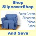SlipcoverShop.com is online distributor of specialty products such as furniture slipcovers, futon covers, wingback slipcovers, dining chair covers, fabric, pillows and other furniture related products. $0.00 USD