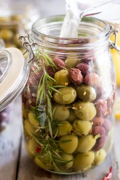 DIY Gourmet Olives | by Sonia! The Healthy Foodie. Shop preserve jars here: https://www.pattersons.co.uk/products/32232-Glass-Storage-Containers