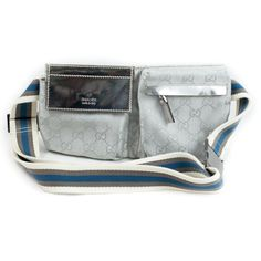 Limited Edition GUCCI Silver Guccissima Belt Bag is real cool!