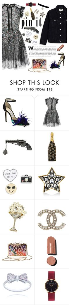 """""""Pin It #2"""" by fabulusvogue ❤ liked on Polyvore featuring Jimmy Choo, Elie Saab, Chanel, Marc Jacobs, Design Lab, Lanvin and Abbott Lyon"""