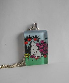 Lovely Moomin troll necklace by minnal on Etsy, $14.00