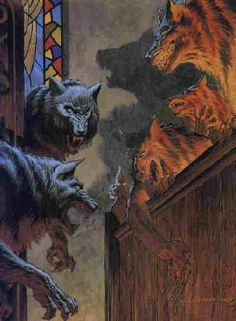 No one can draw/paint werewolves like Bernie Wrightson.  (From 'Cycle of the Werewolf')
