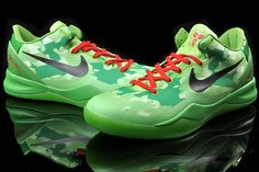 Womens Nike Zoom Kobe 8 Pine Green Yellow Electric Purple