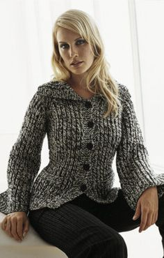 Lana Grossa - Trefilo Cardigan Free Knitting Pattern