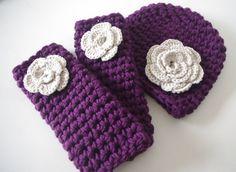 Crochet Baby Legs, Flower Hat, Newborn Photo Props, Crocheted Hats for Newborn, Baby Girl Hats, Baby Crochet Hats, Baby Leggings. $34.00, via Etsy.