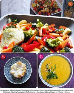 Billas Collage aus Mittagessen, Nachtisch und Abendessen. Gut, dass alle Bilder zusammen sind. Ich hätte mich sonst beim Pinnen nicht entscheiden können!