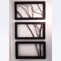 3 Frame Branch Art | Wall Decor | Wall Art |  FREE SHIPPING