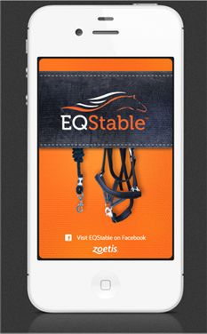 EQStable App from Zoetis- allows horse owners to track the care of their horses. Users can create individual horse profiles, log vaccinations and set reminders. Download for free at the Apple App Store or zoetisUS.com/EQStable