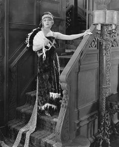 Cinema Style--Gloria Swanson costume from 1919's Male and Female-- an over-the-top gown made of fur with a chain-mail train